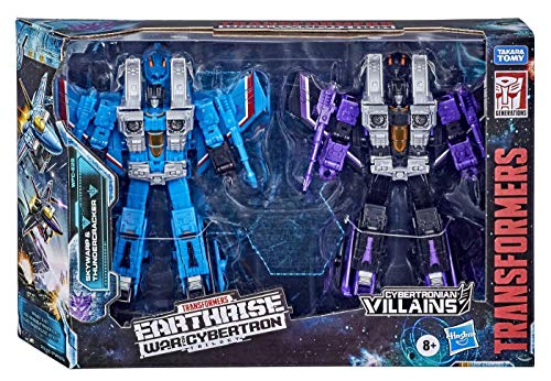 Transformers Toys Generations War for Cybertron: Earthrise Voyager WFC-E29 Seeker 2-Pack Action Figures - Kids Ages 8 and Up, 7-inch