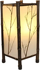 Floor Lamps Indoor Lighting LED Chinese Style Vintage Lamp Bamboo Light Indoor Lighting Home Decorative Design Lantern E27 Japanese Bamboo Floor Lamp (Size : 60cm)