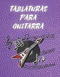 TABLATURAS PARA GUITARRA: Cuaderno de Tabs Para Guitarra Con Estilo Moderno, Especial Para Músicos, Profesores y Estudiantes (8.5 x 11' Contiene 120 Páginas Y 7 Tablaturas Por Página)