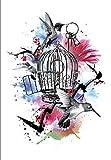Jaula De Pájaros Tatuajes Temporales Impermeables Pegatinas De Arte Corporal Falso Transferencia Para Hombros Pecho Espalda Piernas Festival Arte De Moda 21X15Cm 5 Pcs