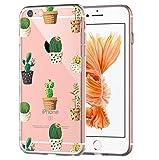 Custodia iPhone 6S, Cover iPhone 6, Cover Morbido Trasparente Antiurto Silicone Originale con Disegni TPU Bumper con Apple Case Protettiva Trasparenti Posteriore per iPhone 6 / iPhone 6S (Cactus 2)