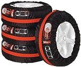 Unitec 75555 - Set borse porta gomme con tracolla, Per pneumatici auto da 33 cm (13') a 46 cm (18'), 4 pezzi