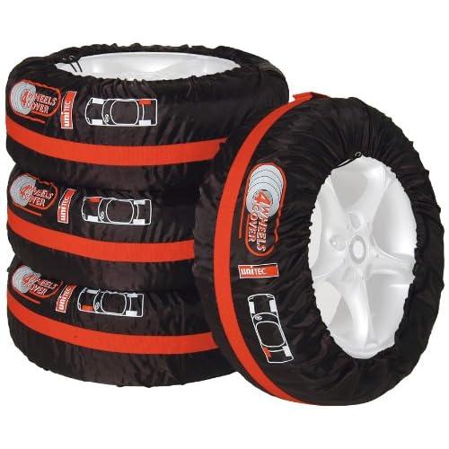 Unitec 75555 - Borsa per pneumatici, 4 pezzi