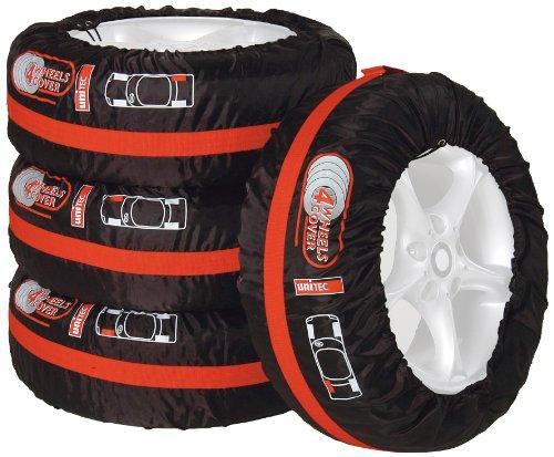 """Unitec 75555 - Set borse porta gomme con tracolla, Per pneumatici auto da 33 cm (13"""") a 46 cm (18""""), 4 pezzi"""