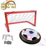 Joy-Jam Juguetes para Niños 3-8 Años Hover Ball Goal Set Juguetes al Aire Libre Futbol Electrico con 2 Puertas Luces LED Regalos para Niños Black Gates - New