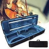 Zephyri - Funda para violín 4/4 con 2 correas ajustables, color negro y azul