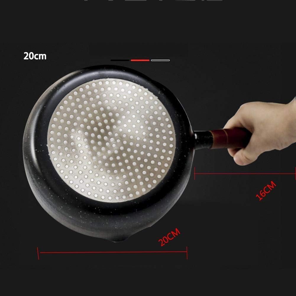WYZQ Pot à Lait Ménage Complément Alimentaire Pot de Soupe antiadhésif Cuiseur à gaz (Couleur: Noir, Taille: 20cm), Pot à Lait avec Couvercle Black