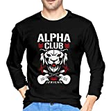 Photo de Mens Alpha Club Long Sleeve T Shirt,Black,XX-Large par