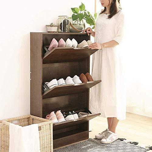 Ranura de calzado ajustable Organizador de zapatos Muebles de entrada de zapatos Muebles de madera sólida Zapato de zapatos Gabinete de zapatos, ahorro de espacio ultrafino, diseño multifuncional (mar