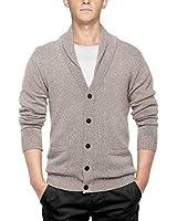 Match Men's Shawl Collar Cardigan Sweater (US XL (Tag Size 3XL), Light Heather Camel)