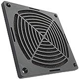 AERZETIX: Rejilla Negra de protección 120x120mm ventilación con Filtro de Polvo para Ventilador de Caja de Ordenador PC C15111