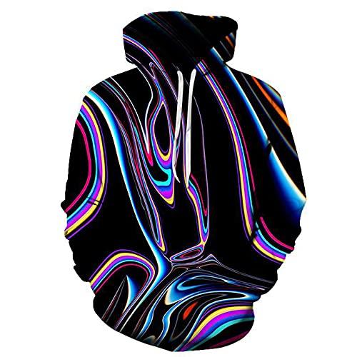 XDJSD Sudadera con Capucha para Hombre Chaqueta Suéter De Gran Tamaño Suéter con Capucha Estampado para Hombre Top De Tigre Colorido Personalizado