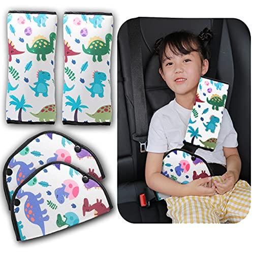 4 Packs Seat Belt Cover for Kids, Car Seat Belt Adjuster Strap & Belt Covers Pad for Baby Children...