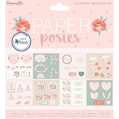 Dovecraft Paper Posies FSC 8x8 Decoupage Pad Multicolour One Size