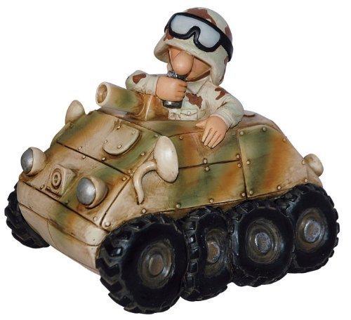 Commando Industries Lustige Spardose Auto Deko Soldat im Bundeswehr Panzerspaehwagen Fun Division Neu&OVP (US Desert Camo)