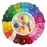 KATELUO Ballons Multicolore [ 200 Pièces ] 20 Colors - Baudruche Décoration - pour Bapteme, Anniversaire, Fête, Anniversaire Latex Baudruche, Hélium Ballons Gonflable - Multicolore