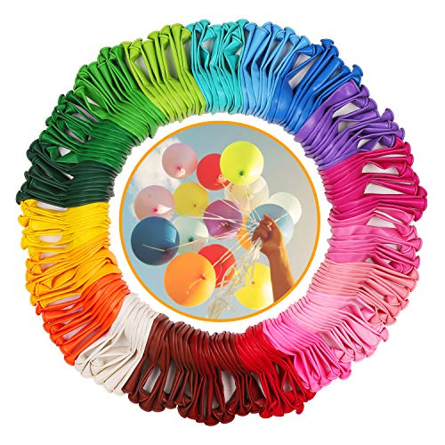 KATELUO Luftballons Bunt 200 Stück in 20 Farben Wundervollen Farben für Geburtstag, Party & Deko, Langlebige Premium Ballons Luft/Helium Luftballon, Hochzeit, Garten Party, Babytaufe Dekoration