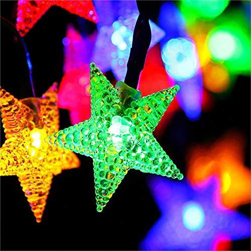 Solar Garten Lichter, Led Outdoor Sternenhimmel Dekorative Lichterkette Multi Farbige Sternenhimmel Fairy Lampen Wasserdichte Beleuchtung Für Garten, Terrasse, Hof, Weihnachten