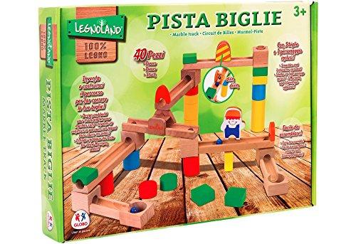 Globo Giocattoli 96.304,1cm Legnoland Marmo Pista in Legno (Pezzi)