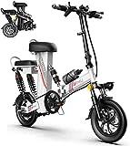 MQJ Ebikes Electric Bicycle, Scooter Portátil Plegable de 12 Pulgadas de 12 Pulgadas, Motor de 48V350W, Múltiples Amortiguadores Y Exhibición de Alta Definición, Damas para Padres-Niño-Niño Bicicleta