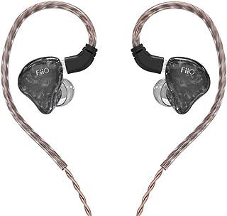 FiiO FH1s HiFi 1BA (Knowles)+1 Auriculares híbridos dinámicos IEM estéreo Bass Auriculares con 0,78 2 pines de alta pureza monocristalinos (sin micrófono, negro)