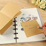 Eagle Sticky Notes - Cubo per appunti in carta kraft riciclata e non appiccicoso, 90 x 90 mm, 500 pagine strappate, ideale per prendere appunti e promemoria, per scuola e ufficio
