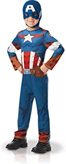 Rubie's Official Marvel Avengers Captain America Classic Child's Costume - Toddler Age (5-6 years) (640832M)
