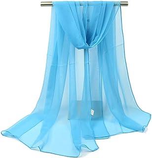 Ruikey Pañuelos Cuello Mujer Bufanda pura del color de la manera Mantón Bufanda Conveniente Para los Partidos, Playa, Otoñ...