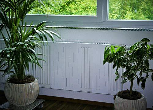 Heizkörperverkleidung 60 x 20 cm Design: Rain, weiß (SET=3 Stück) Marke: Szagato (Heizkörper-abdeckung für Heizkörper/Heizung Heizungs-verkleidung Heizkörper-verkleidung Heizungs-abdeckung)