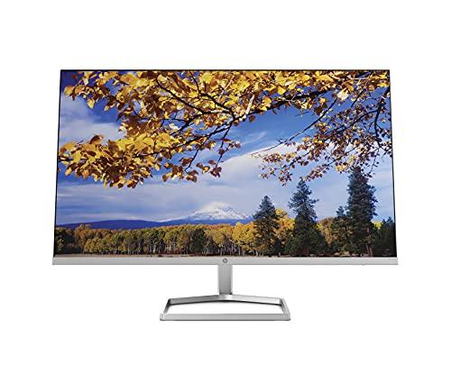 HP M27f Monitor (27 Zoll Display, Full HD IPS, 75 Hz, AMD FreeSync, VGA, 2 x HDMI 1.4, 5 ms Reaktionszeit, HP Low-blue-light) silber