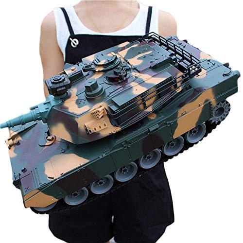 ZAKRLYB Ampliación de 50 cm de radio niños de coches de juguete Longitud Emisión militar que lucha contra un fuerte control remoto tanque de juguete caballos de fuerza fuera de la carretera de metal L