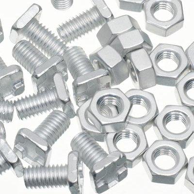 100 High Tensile Aluminium Kas Noten & Bouten Echte Kas Magazijn Onderdelen