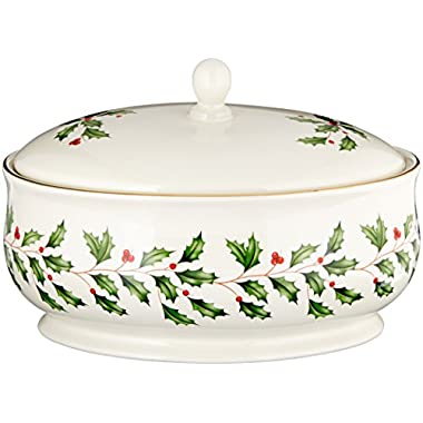 Lenox Holiday Covered Dish, Ivory