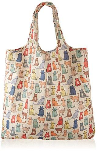 Ulster Weavers Einkaufstasche, 34x 11,4x 35,6cm, Katzenmotiv, verstaubar