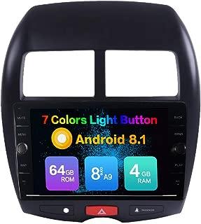 KUNFINE Android 8.1 Octa Core 4GB RAM 64GB ROM Car Steoro Multimedia Player Autoradio Headunit for Mitsubishi ASX 2013-2017 with GPS Radio Bluetooth Calling Steering Wheel Control North America Map