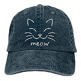 Gorra de béisbol para hombre y mujer Trucker Sombreros Denim Snapback Meow Cat Cara ajustable seis paneles Casquette...