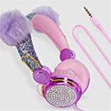 2021 Kids Headphones for Girls Children Teens, Wired Headphones with Adjustable Headband, 3.5mm Jack and Tangle-Free Cord, Over On Ear Headset w/Mic for School Birthday