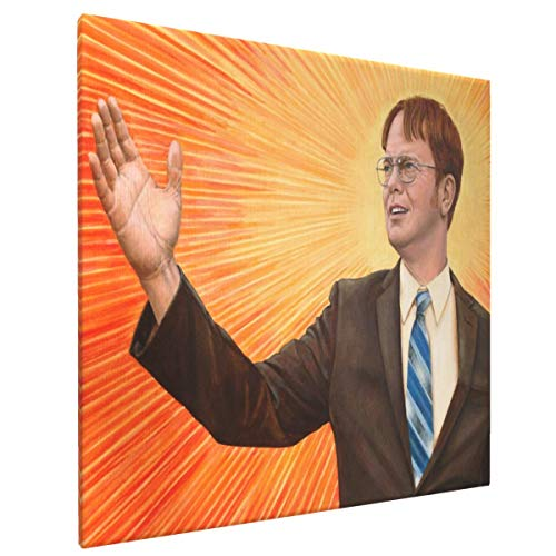 Dwight Schrute The Messiah Home Decor Artwork Canvas Wall Art Prints Pictures 16' X 16'