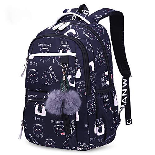 HBRE School Backpack,Large Laptop Rucksack Water Resistant School Rucksack Gifts, Shoulder Strap Can Be Adjusted Freely,For Women, Men Students Daypack,4