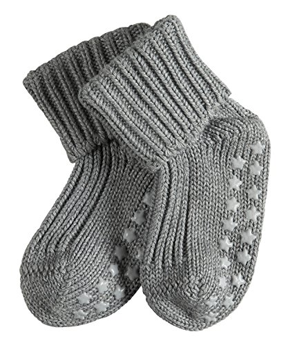 FALKE Baby Socken Catspads Cotton, 1 Paar, Grau (Light Grey 3400), 74-80