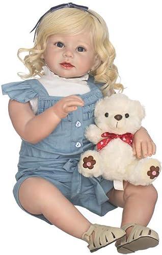 FHSGG Reborn Baby Dolls H  70Cm Sch  mädchen Weiße Silikon Vinyl Lebensechte Realistische Puppe Spielzeug Sammeln Geschenk