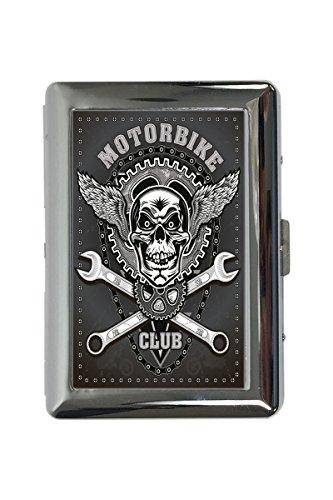 Zigarettenetui Box Retro Biker Motorradclub Bedruckt