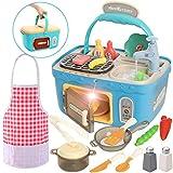 JOYIN Juego de picnic para cocina, portátil, cesta de pícnic, juguetes con...