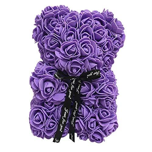 Rose Bär Puppe Simulierte Puppe PE Blume Valentinstag Dekoration 25 cm Geschenk für Freundin