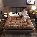 ZHONGXIN Colchón de Suelo japonés Colchón de futón, colchón Plegable para Dormitorio de Estudiantes, colchón de Suelo Tipo futón, futón Plegable de Tatami Suave y Transpirable (C,150 * 200cm)
