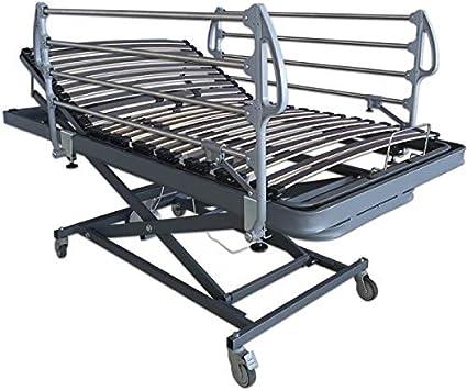 Ventadecolchones - Camas Articuladas Geriátrica de Hospital con Carro Elevador Medida 105 x 190 cm - Incluye Bote de Grasa