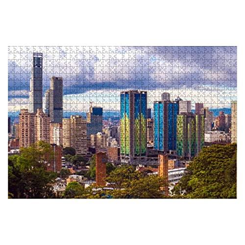 1000 Piezas Vista panorámica de Bogotá Colombia Rompecabezas de Piezas Grandes para Adultos Juguete Educativo para niños Juegos creativos Entretenimiento Rompecabezas de Madera Decoración del hogar