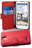 Cadorabo Custodia Libro per Huawei Ascend G610 in Rosso Cremisi - con Vani di Carte e Funzione Stand di Similpelle Strutturata - Portafoglio Cover Case Wallet Book Etui Protezione