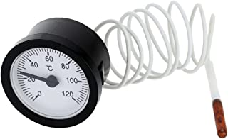 Tykeed Dial Capillary Temperature Gauge with 1.5m Sensor 0-120°C for Measuring Water