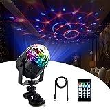 HCLKSTORE 15 Colores Luces Discoteca Giratoria con Cable USB de 4 Metros Bola LED de Discoteca con...